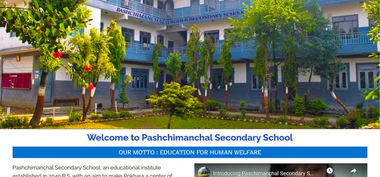 Website of Pashchimanchal Secondary School